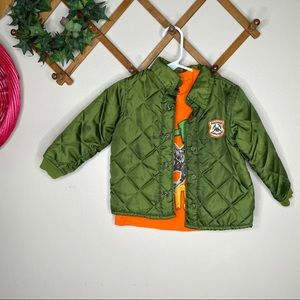 Two piece 2T Dino top & bomber jacket